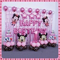 Set bóng trang trí thôi nôi, sinh nhật cho bé trai, bé gái tông hồng, xanh siêu dễ thương cùng bộ chữ, bóng hình, bong bóng tặng kèm keo dán bóng YBHP-099, YBHP-102