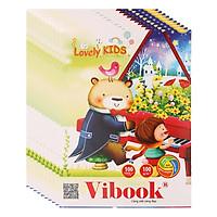 Lốc 5 Tập Vibook Gold Lovely Kids T100R-12 In Caro 100 Trang