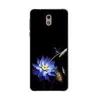 Ốp lưng dành cho điện thoại Nokia in họa tiết Chuồn chuồn và hoa sen