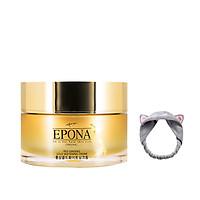 Kem Hồng Sâm Dưỡng Trắng da, Giảm Thâm Nám Epona Red Ginseng Gold Whitening Cream 50ml + Tặng Kèm 1 Băng đô Tai Mèo (Màu Ngẫu Nhiên)