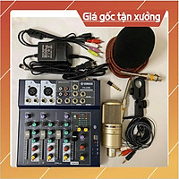 Combo Míc THU ÂM Livestream karaoke PC K200 MIXER F4 USB Bluetooth
