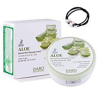 Kem mát xa dưỡng trắng ngăn ngừa mụn tinh chất lô hội DABO Aloe Natural Rich Massage Cream ( 200ml) - [ Tặng dây cột tóc ]