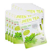 Combo 10 Miếng Mặt Nạ Trà Xanh Dabo Green Tea First Solution Mask Pack Hàn Quốc sạch nhờn ngừa mụn (23g / Gói)
