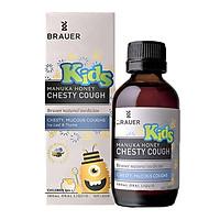 2 hộp siro giúp giảm ho, long đờm cho trẻ từ 2 tuổi Brauer Kids Manuka Honey Chesty Cough (100 ml)