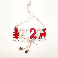 Móc Treo Trang Trí Giáng Sinh Bằng Gỗ 17.5x8.5cm