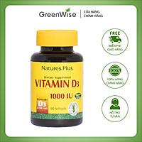 Viên Uống Bổ Sung Vitamin D3 1000 IU Giúp Xương Khỏe Mạnh Nature's Plus - Hộp 180 Viên