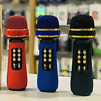 Micro karaoke kèm loa bluetooth Mini, AUX, USB, microSD, FM, TWS - Hàng Chính Hãng