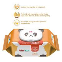 10 gói Khăn ướt Kin Kin 100 tờ Không mùi, an toàn tiện lợi thế hệ mới nhất
