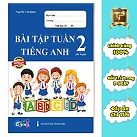 Sách - Bài Tập Tuần Tiếng Anh dành cho học sinh lớp 2 cả năm (1 cuốn)