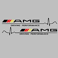 Bộ 2 tem dán gương chiếu hậu ô tô AMG
