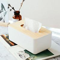Hộp đựng giấy ăn nắp gỗ cao cấp cỡ lớn GS00858