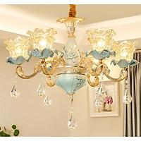 Đèn chùm ZUMAN 8 tay trang trí nội thất sang trọng, hiện đại - kèm bóng LED chuyên dụng.