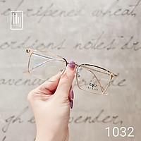 Gọng kính kim loại nam nữ Lilyeyewear mắt vuông thanh mảnh nhẹ nhàng màu sắc thời trang 1032