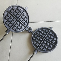 Khuôn kẹp dầy gang Waffle