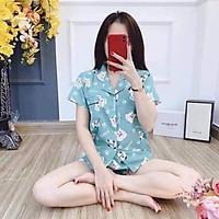Bộ Pijama Ngắn Tay - Bộ Ngủ Nữ Ulzzang Cute Hot Trend 2021
