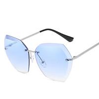 Women Fashion Cool Frameless Metal Outdoor Sunglasses
