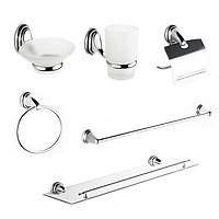 Bộ phụ kiện Inox 6 món trong phòng tắm Eurolife EL-P03