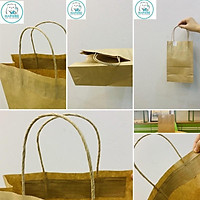 100 Túi giấy kraft nhật có quai K2011 15,5x9x25cm