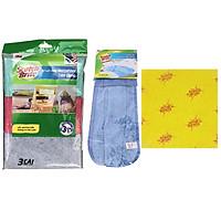 Bộ 3 món khăn lau gồm gói 2 khăn lau chén, gói 4 khăn lau đa năng và gói 3 khăn lau bếp Scotch-Brite 3M CB-KL1