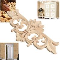 22*10 cm Wood Carved Corner Onlay Applique Frame Decor Furniture Craft Unpainted