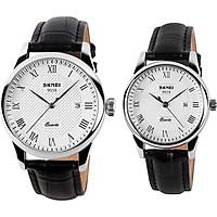 Đồng hồ đôi dây da Skmei 90TCK58