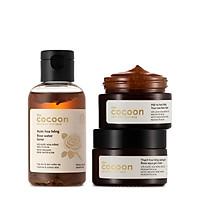 Combo dưỡng ẩm chuyên sâu Cocoon : 01 Nước hoa hồng Cocoon 140ml + 01 Mặt nạ hoa hồng Cocoon 30ml + 01 Thạch hoa hồng dưỡng ẩm Cocoon 30ml