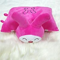 Gối đi xe máy nhồi bông cho bé hình thỏ Baby hồng đậm