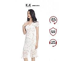 Đầm Họa Hiết Hoa Dáng Chữ A K&K Fashion KK105-28 Chất Vải Voan