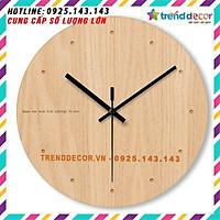 Đồng hồ Gỗ treo tường chất liệu gỗ máy kim thiết kế in theo yêu cầu decor trang trí nhà và quán cafe
