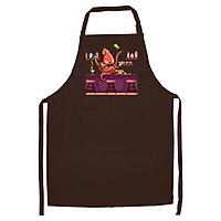 Tạp Dề Làm Bếp In Hình Bạch tuộc pha chế - ABZTU004 – Màu Nâu