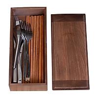 Hộp đựng đũa muỗng có nắp, hộp đựng muỗng đũa nhà hàng quán ăn, hộp đựng đũa thìa Nhatvywood NV5312B