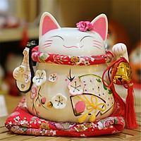 Mèo thần tài May mắn nhật bản-Đa phúc 19cm (quà tặng khai trương)