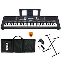 Bộ Đàn Organ Yamaha PSR-E373 - Đàn, Chân, Bao, Nguồn Keyboard PSR E373 Hàng Chính Hãng - Có tem chống hàng giả Bộ CA - Kèm Móng Gẩy DreamMaker