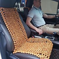 Đệm lót ghế ô tô hạt gỗ Pơ Mu 100% tự nhiên tựa lưng massage trên ô tô - Dạng Cài Đàn - Kích thước: 1,25x0,46m - Trọng lượng: 2,7Kg - Mã: PM-D