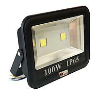 Đèn pha LED ngoài trời HKLED tròn chóa rộng 100W - IP65