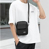 Túi messenger đeo chéo nam nữ thời trang phong cách basic cao cấp chống nước TD64 vải đen dệt trơn chống thấm chống xước thông dụng phù hợp đi chơi party du lịch dạo phố dễ phối đồ