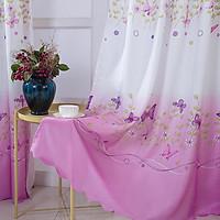 Elegant Butterflies Printing Window Curtain for Living Room Bedroom Decor