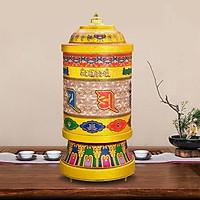 Kinh luân quay tự động bằng điện - Bánh xe cầu nguyện có 41 bài hát có sẵn cao 30cm