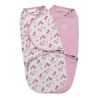 Bộ 2 Chăn Quấn Tweet Tweet Girl Summer Infant - S (Original Swaddle - Tweet Tweet Girl - Small - 2Pk Bag)