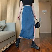 Chân váy jean dài Midi Ulzzang VJD1