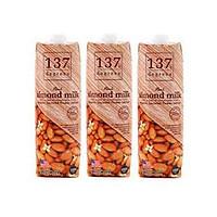 Combo 3 hộp sữa hạnh nhân nguyên chất 1L 137 Degrees Thái Lan