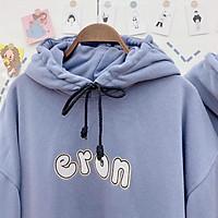 Áo nỉ hoodie tay phồng Eron chất nỉ mềm nhẹ, không bai xù, form dáng rộng hàn quốc, size dưới 60kg