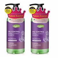 Combo 2 chai - Dầu gội thảo dược Organic kiểm soát dầu cho da đầu Jie Fen Oil Control Shampoo, Taiwan 600ml