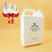 Nước rửa tay khô Joton Trà xanh 5L, tặng kèm 2 combo vỏ chai tiện dụng 500ml (bơm), 100ml (xịt), 30ml