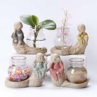 Bộ 4 tượng tứ An Lạc không kèm lọ hoa phong thủy – Tặng 1 lọ tinh dầu Quế 10ml