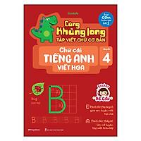 Cùng Khủng Long Tập Viết Chữ Cơ Bản - Chữ Cái Tiếng Anh Viết Hoa - Quyển 4 - Sticker Bé Gái