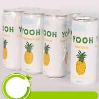 Nước ép Dứa từ trái cây tươi YOOH- Lốc 6 lon (240ml/lon)