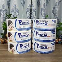 Combo 6 cuộn giấy vệ sinh cuộn lớn Jumbo Ponyo 700g - CARO