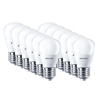 Bộ 12 Bóng Đèn Philips LED Ledbulb 3W 6500K E27  P45 - Ánh Sáng Trắng - Hàng Chính Hãng