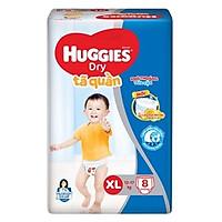Tã/bỉm quần Huggies Size XL8 ( 8 miếng cho bé 12-17kg)  - HSD luôn mới